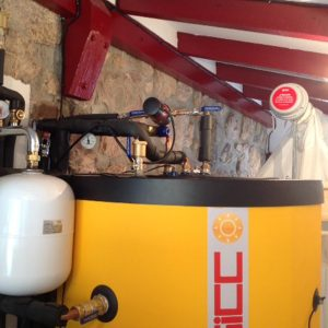 Instalacion caldera pellets en etxalar